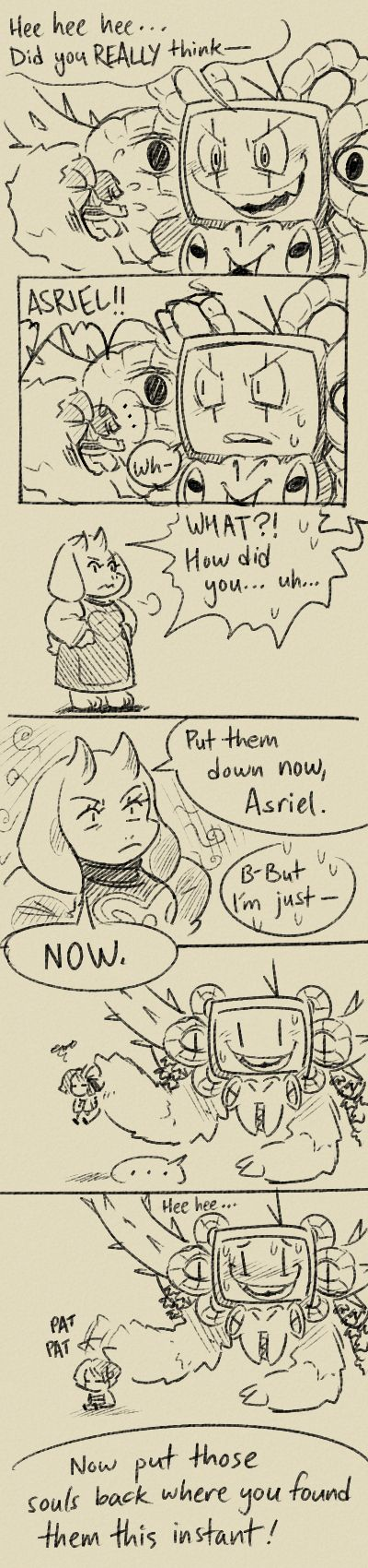 Toriel and Photoshop Flowey #comic-- I wish.