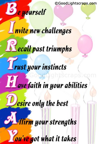 birthdays are the 1st day of the rest of your life and here are some