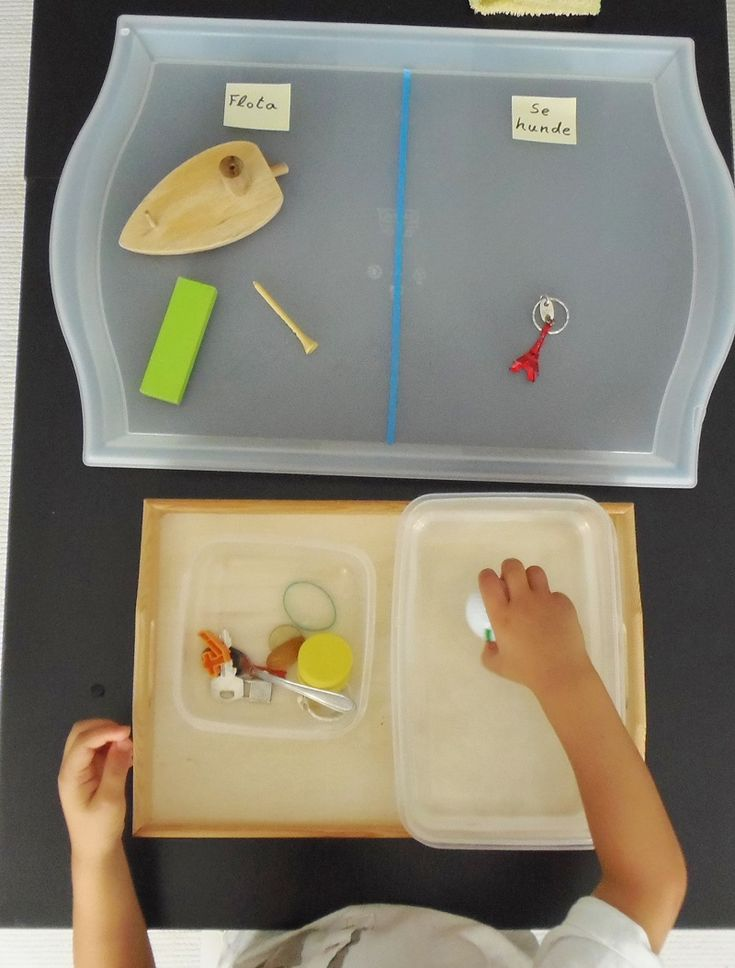 Montessori en Casa: Flota o se hunde - Floats or sinks