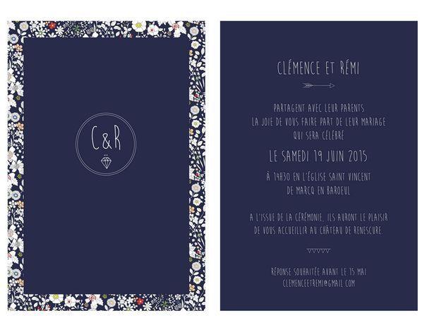 Faire part mariage wedding invitation Mon petit faire part à l'américaine
