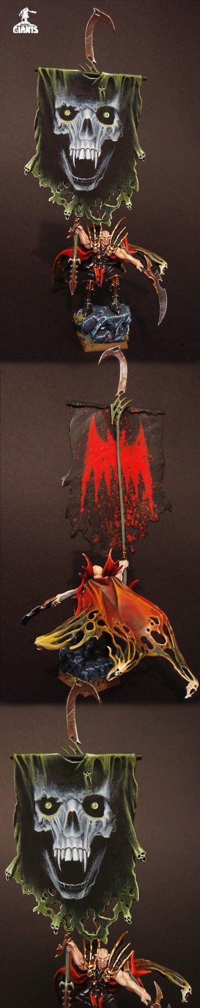 Vampire Counts Hero with Battle Standard Bearer
