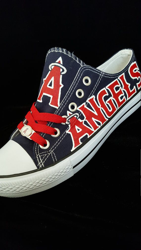 Hey, I found this really awesome Etsy listing at https://www.etsy.com/listing/269550649/anaheim-angels-fan-art-shoes