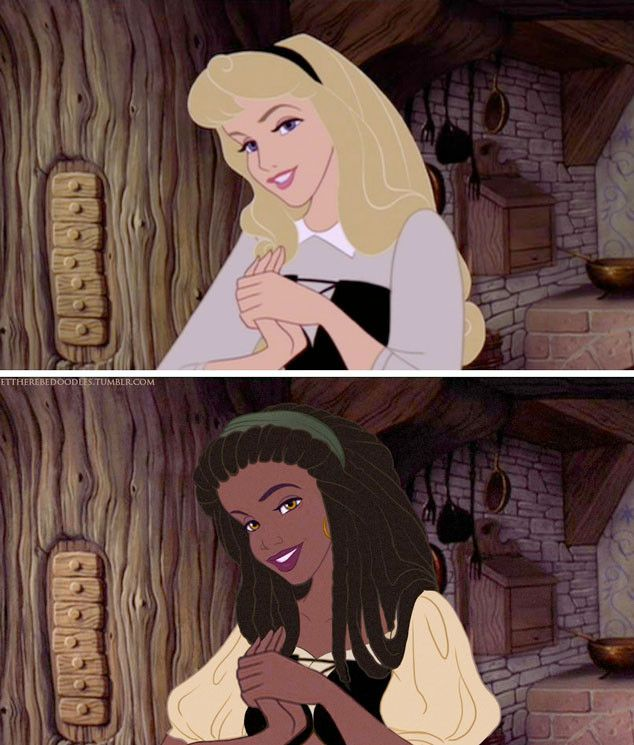 An Artist Reimagined Disney Princesses With Different Races and the Results Will Blow Your Mind | locs, dreads, dreadlocks