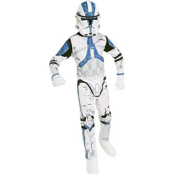Star Wars Clone Trooper Costume - Kids, Boy's, Size: Medium, White