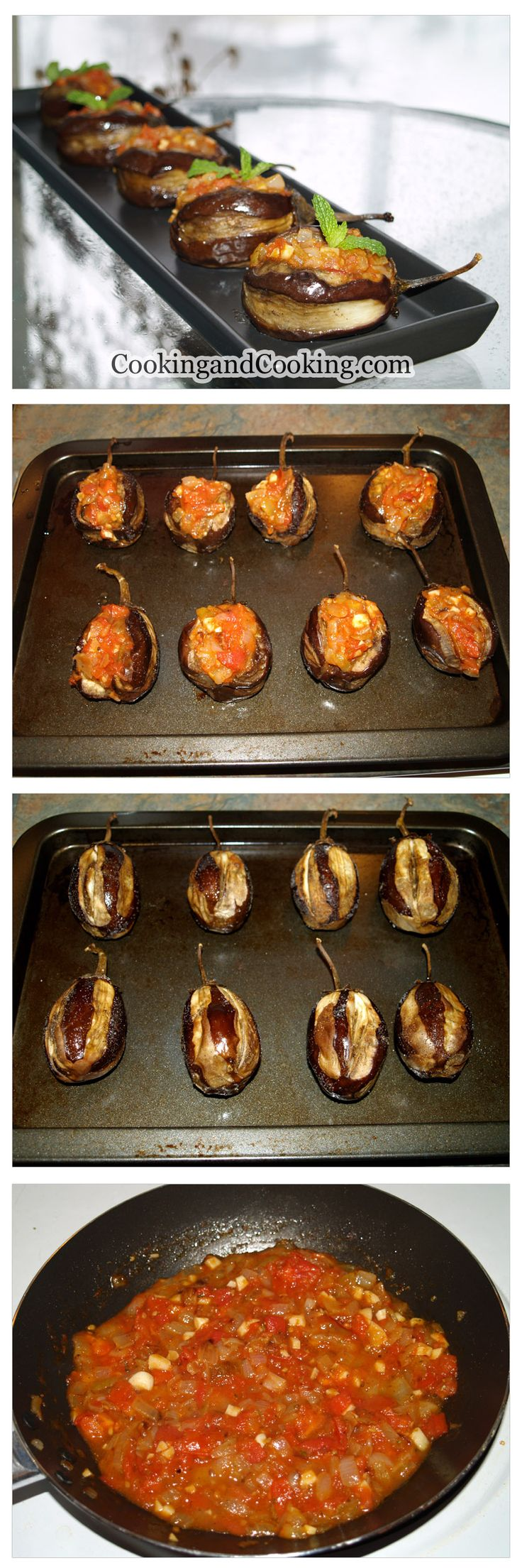 This Vegetable Stuffed Eggplant recipe is a perfect veggie appetizer for vegetarian or even can be served as a main dish with yogurt and bread.