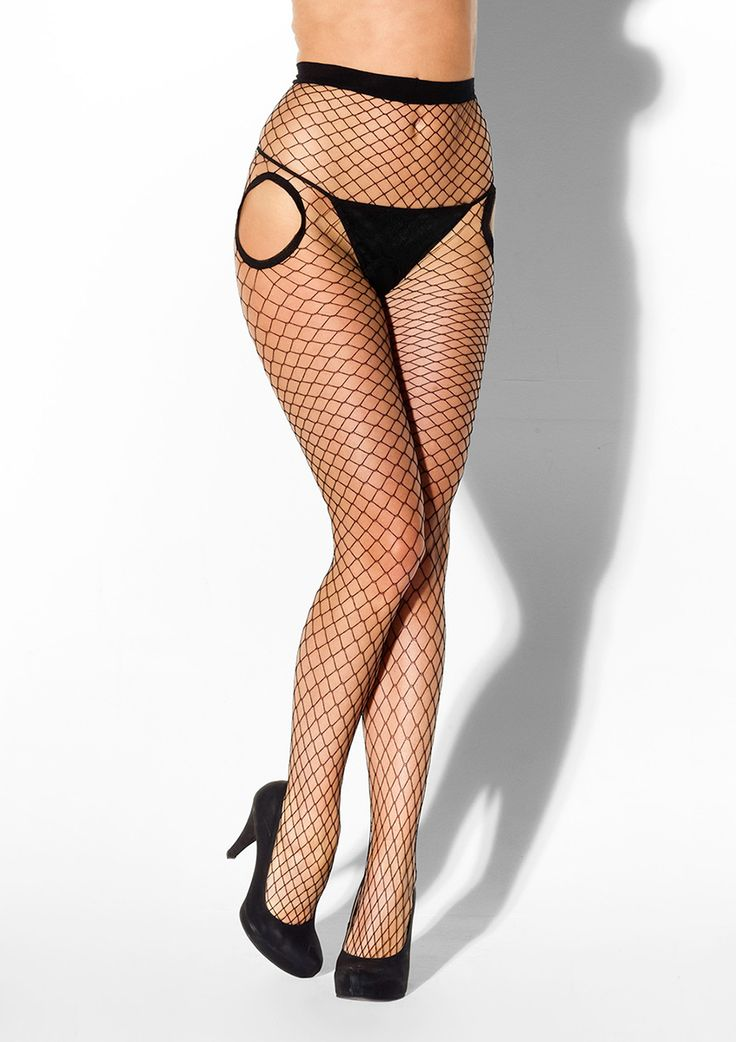 Kiss Me Only 4U Fishnet Tights £12.99 Kiss Me Only 4U Crotchless Fishnet Tights. Totally cool fishnet tights from KissMe can be worn anywhere from the club to the bedroom.  www.townoftoys.co.uk