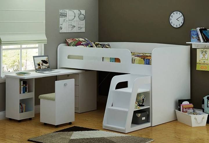 Bunk beds desk combo