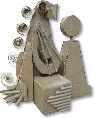 """I developed this """"Cardboard Cubism"""" lesson plan from an assignment I really enjoyed doing while in college. I first taught it during my student teaching at Alcoa (Tennessee) High School, with Ms. Minda Cedeno, and since, have been able to adapt and use the material in my eighth-grade art classes at Alcoa Middle School. …"""
