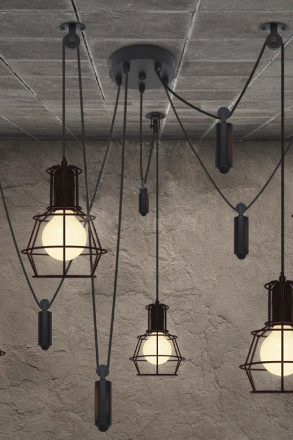 Easy Industrial Style Lighting Ideas To Nail Your Urban Home Industrial Lighting I Industrial Light Fixtures Vintage Industrial Lighting Industrial Lighting