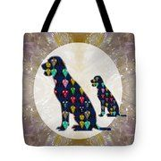 Best friends of man Dog Labrador painted abstract art download option for personal commercial use Tote Bag by NAVIN JOSHI