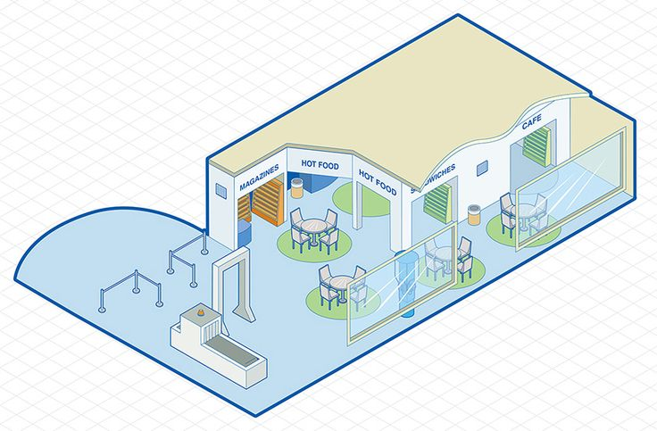 FREE Airport Shop Isometric Vector