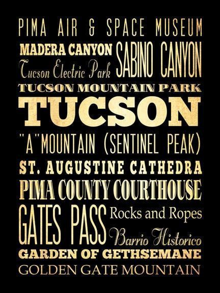 Tucson+Arizona+Typography