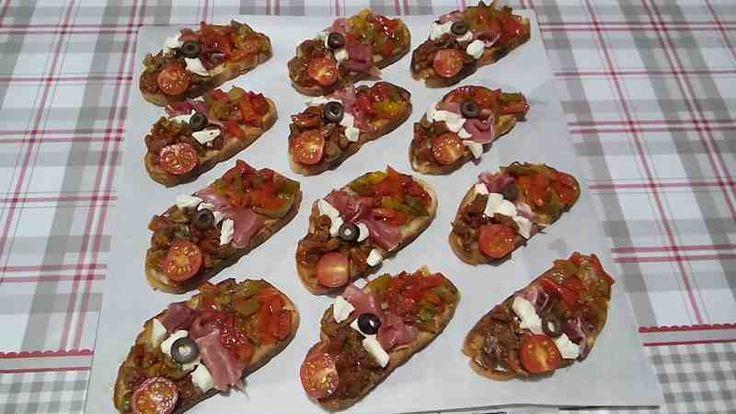 Recette mini bruschettas maison