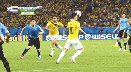 One of the greatest volleys I've seen.  World Cup 2014