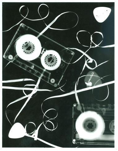 positief-negatief photogram of tapes