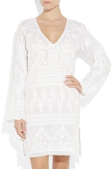 Ayesha embroidered cotton tunic - StyleSays