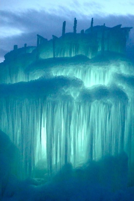 Midway Ice Castles in Silverthorne, Colorado. Gorgeous!