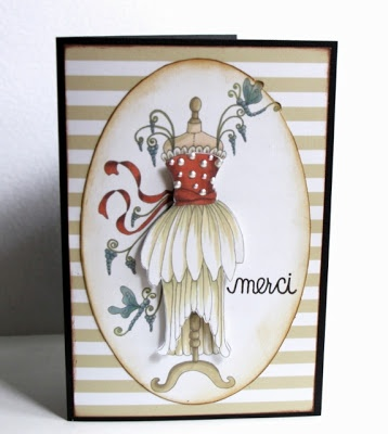 card by Linda Beeson.... using a Flower Soft Fabulous Fashion Download