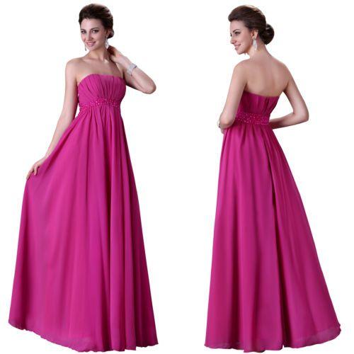 Empire-Taille Lang Damenkleid AbschlussballKleid Party Abendkleid Ballkleider
