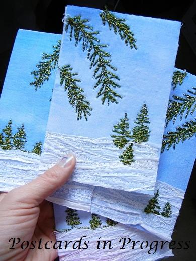 Bobbin work!!!!! GOTTA try this. My Sweet Prairie: Bobbins and Postcards