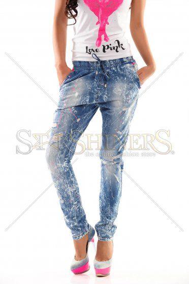 Jeans Mexton Painted Sunshine Blue