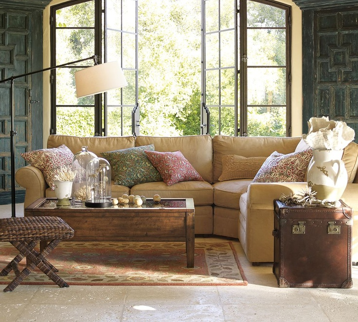 Pottery Barn Living Room old wood shutters