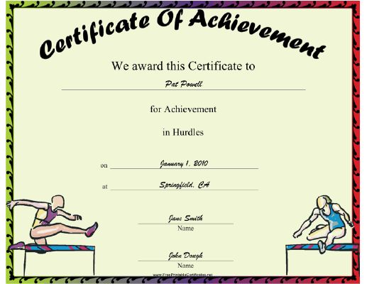 7 best Sport Certificates images on Pinterest Fields, Badminton - event planning certificate