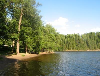 The beach of Luukki (Espoo, Finland).