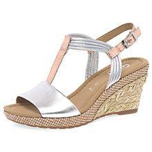 Buy Gabor Jess Wide Fit Wedge Heeled Sandals Online at johnlewis.com