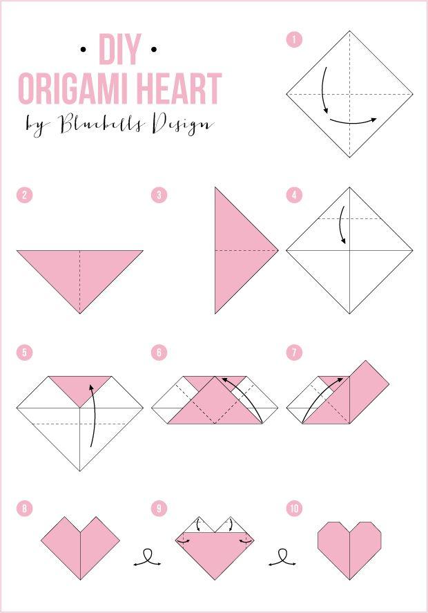 Bluebells Design Origami heart