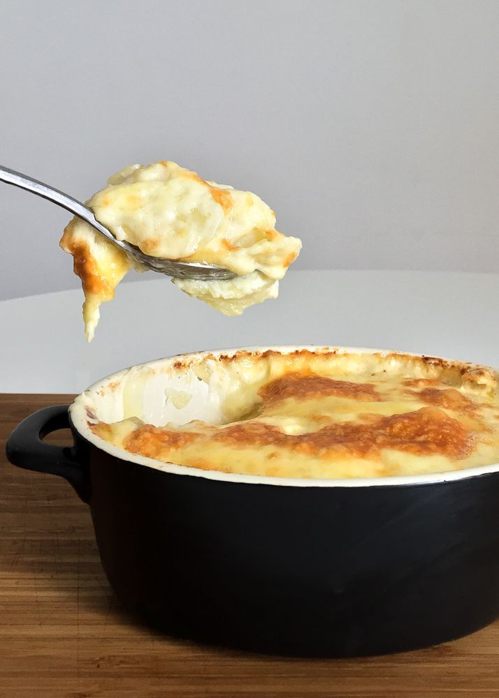 Gratin Dauphinois with Savoy Cheese Recipe - How could we resist the layers of golden potatoes, robust cream and richness of the Savoy cheese? We couldn't.
