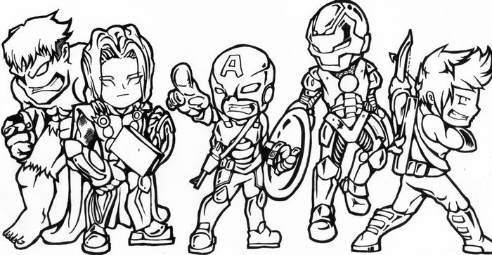 Baby Avengers Coloring Pages Images