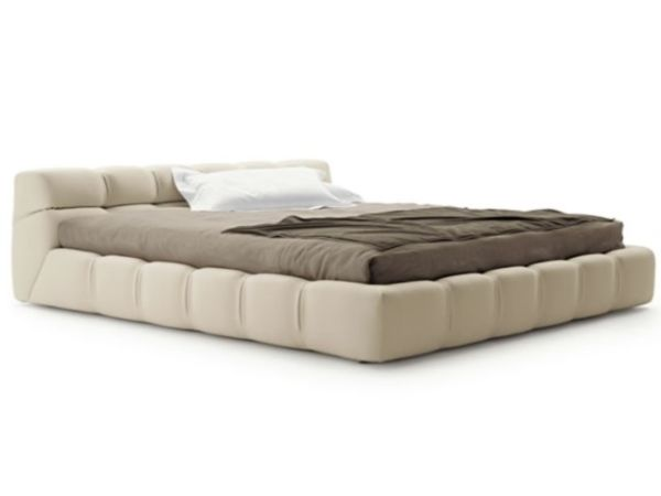 Design 1 - Padded upholstered emperor size bed