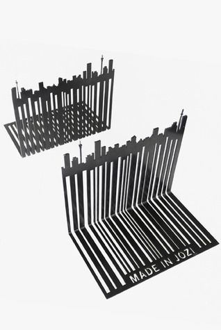 Barcode bookends with Joburg skyline.
