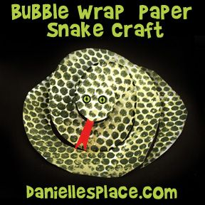 Bubble Wrap Snake Craft Craft from www.daniellesplace.com