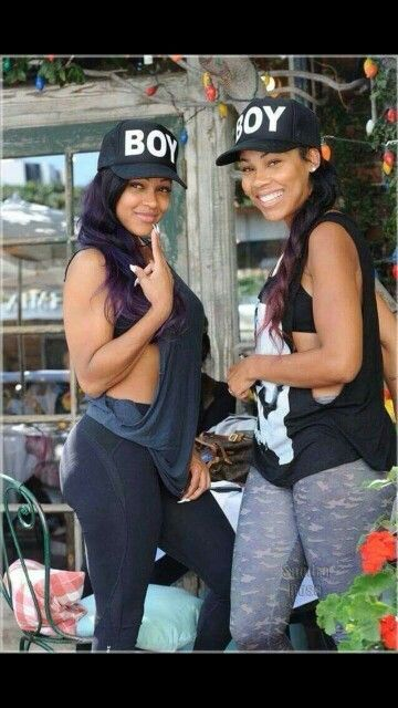 Meagan good and her sister La'Myia good follow Pinterest@Luckkyme1