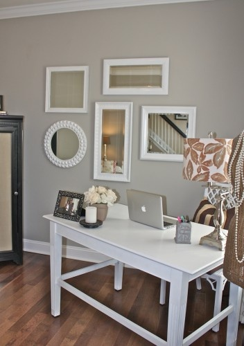 Sherwin-Williams Mindful Gray...going to try it in the playroom.
