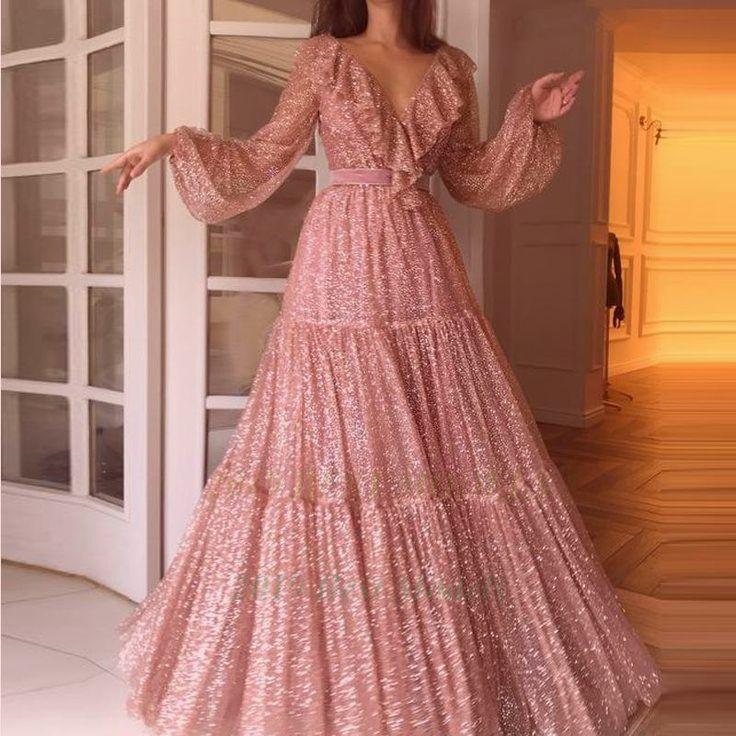 Großartig  Mode sexy V-Ausschnitt Pailletten Abend Party Maxi Kleider ift.tt/30DDtNb