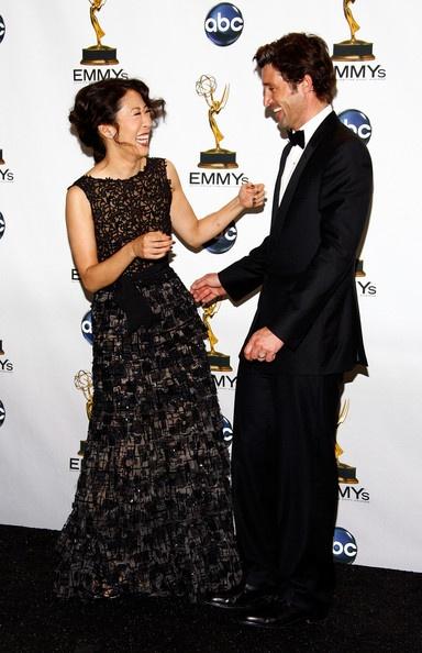 "Sandra Oh (Cristina Yang) & Patrick Dempsey (Derek ""McDreamy"" Shepherd). Grey's Anatomy."