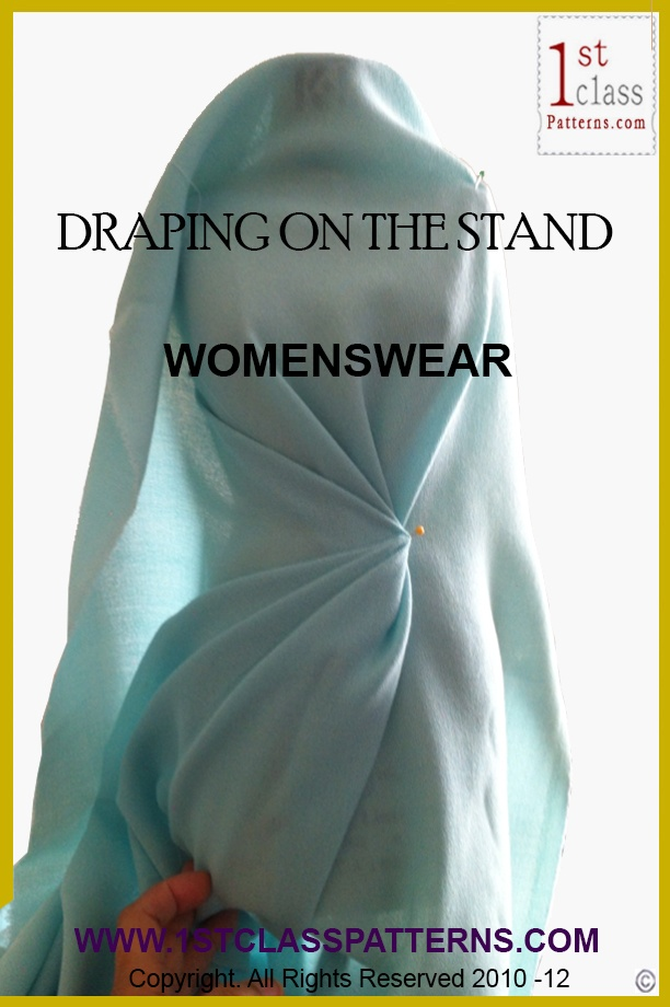 Learn fashion draping on the stand with 1st Class Patterns. #FashionDraping | #1stclasspatterns http://www.1stclasspatterns.com/online-classes