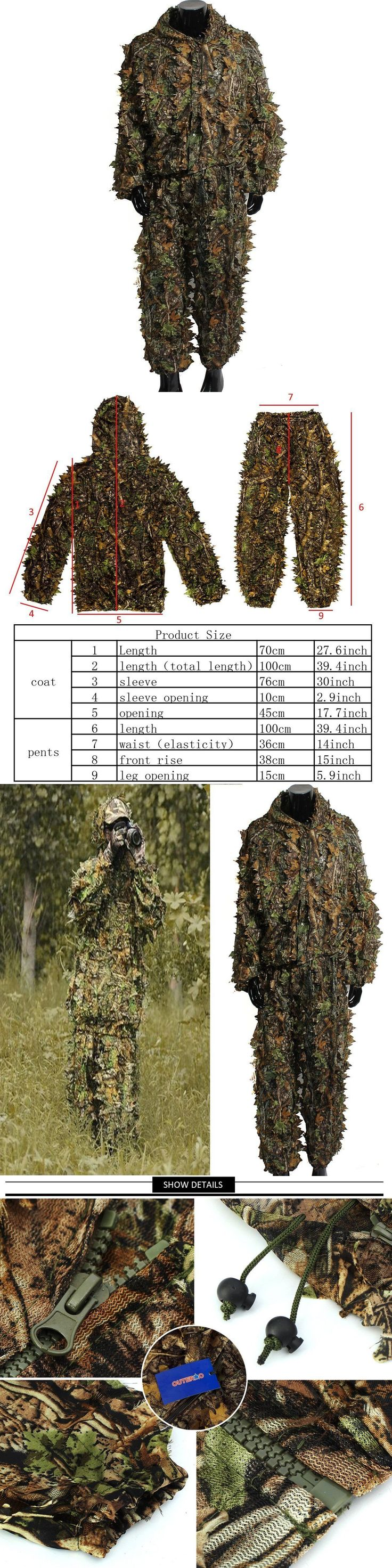 Ghillie Suits 177870: Outerdo Ghillie Suits 3D Leafy Camo Suits Woodland Camouflage,Halloween,Airsoft -> BUY IT NOW ONLY: $42.27 on eBay!
