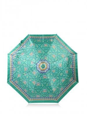 Garunda Indonesia Green Abstract Print Umbrella
