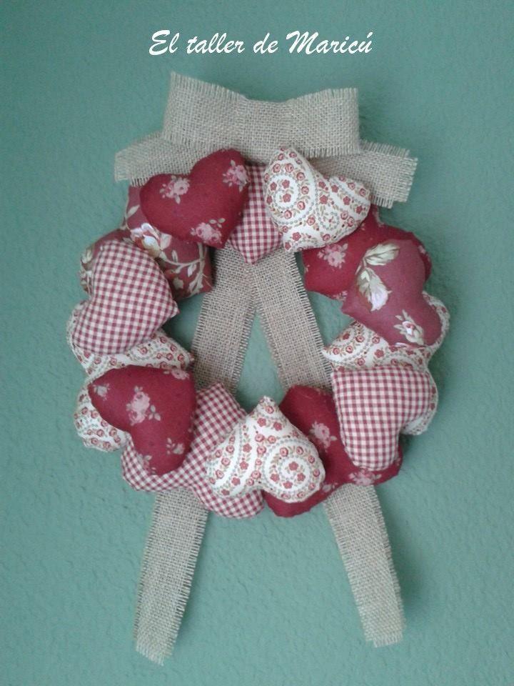 El taller de Maricú: ¿Guirnalda o corona de corazones?