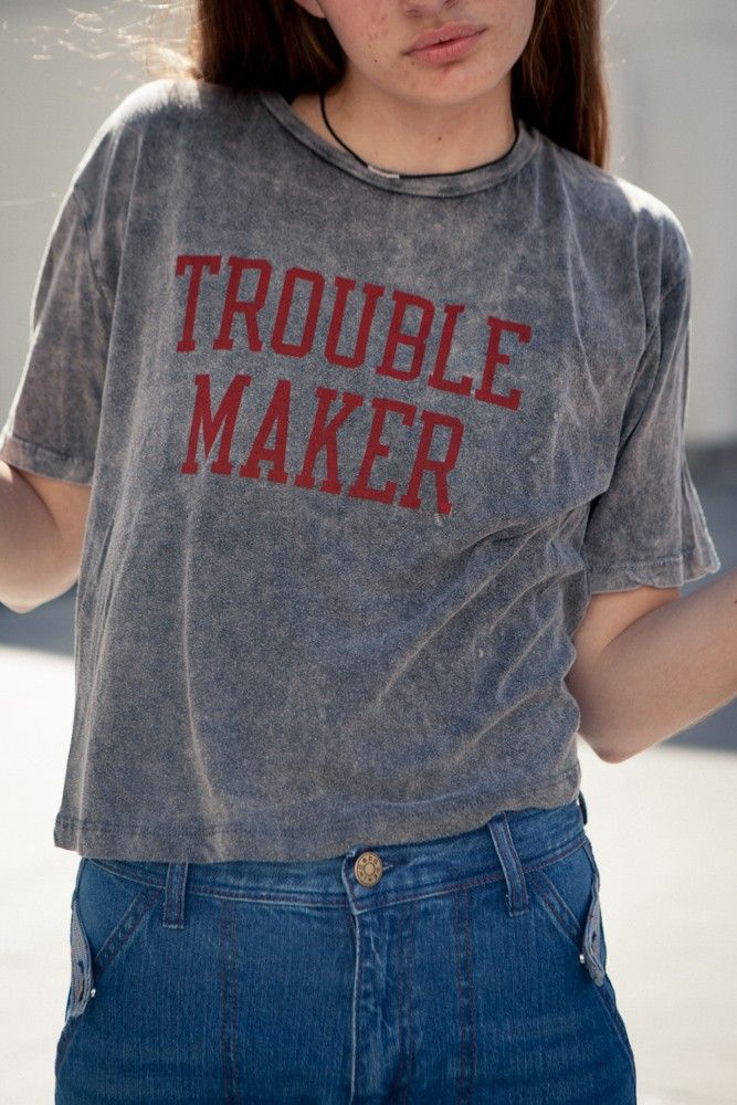 Brandy ♥ Melville | Aeryn Trouble Maker Top - Graphics