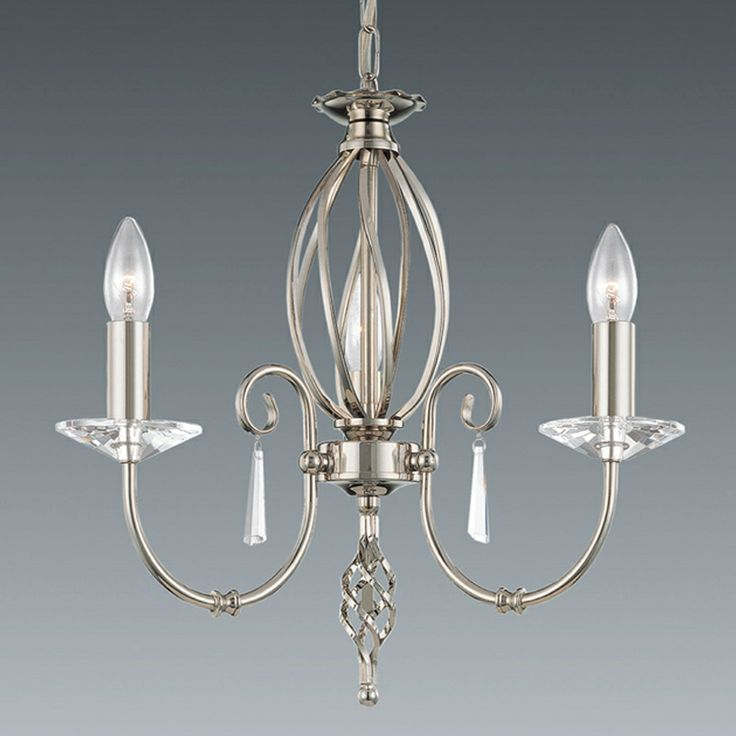 Beautiful 3 arm chandelier with twist in