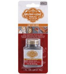 Brush'N'Leaf - Interior Silver Liquid leaf, non-tarnishing, use on cured clay. $4.00