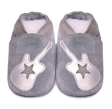 SHOOSHOOS Chaussons bébé cuir souple Shooshoos Guitare rock