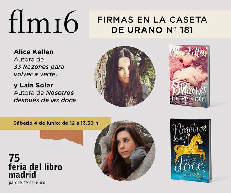 Ediciones Urano estará presente en la 75ª edición de la Feria del Libro de Madrid, que se celebrará del  27 de mayo al 12 de junio de 2016, y contará con 367 casetas y 479 expositores.