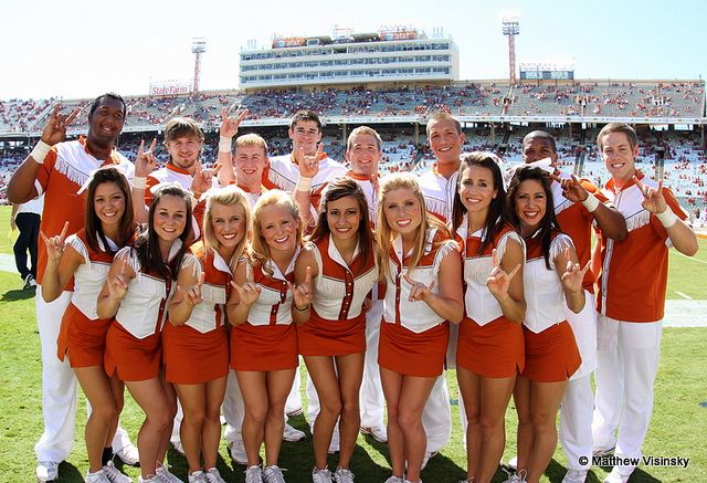 Texas Longhorns Cheerleaders | UT Cheerleaders - Texas OU game - 10-2-10 | Flickr - Photo Sharing!