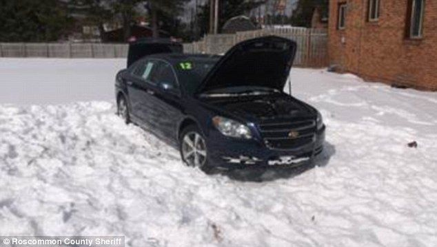 Response: A sheriff's department spokesman said that the 10-year-old was behind the wheel of the 2009 Impala that he seemingly drove over his 9-year-old brother (pictured)